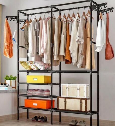 Kleiderständer Garderobenständer Kleidderstange mit Ablage max.50kg 174cm Metall