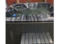 Hot Tub - 6 seat, lights, waterfall, Bluetooth speaker