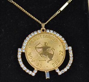 "Vintage Avon Zodiac 30"" Pendant Necklace - Sagittarius"