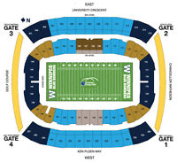 103 Grey Cup Best Sideline Seats Cheap!