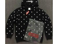 Supreme X playboy hoodie black