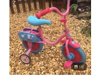 Peppa pig bicycle with stabilisers