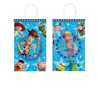 Toy Story 4 Paper Goody Treat Bags Birthday Party Supplies 8ct - Toys Story Party Supplies