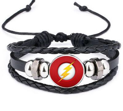 Super Hero Females (New Super Hero The Flash Blitzmann Leather Bracelet Noosa Snap Glass)