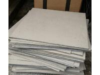 50cm Square Vinyl Floor Tiles Heavy Duty Retail/Garage/Kitchen/Bathroom
