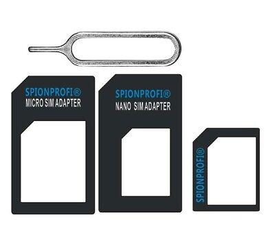 SIM Kartenadapter 3er-Set SIM / Nano / Micro + Öffner für iPhone Handy NEU - Z11 Iphone Sim-karten-adapter