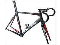 I'm looking for alloy, carbon or quality steel bike road frame + forks, complete or incomplete bike