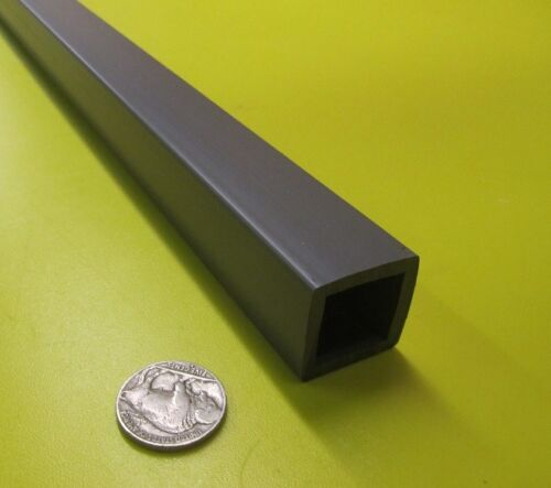 "PVC Square Tube Grey, Type I, 1.00"" Square x 1/8"" Wall x 48"""