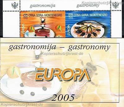 CEPT 2005 GASTRONOMIE - MONTENEGRO MARKENHEFT BOOKLET MH 1 ** - EUR 110,00