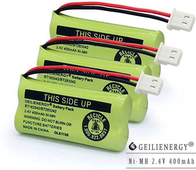 3X For VTech Cordless Phone Battery BT183342 BT283342 BT166342 2.4V 400MAH NIMH