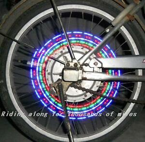 Bike-Bicycle-Cycling-Wheel-Flash-Spoke-Valve-5-Led-7-mode-Safety-Light-Dust-cap