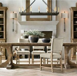 Restoration Hardware Solid Wood Dining Table