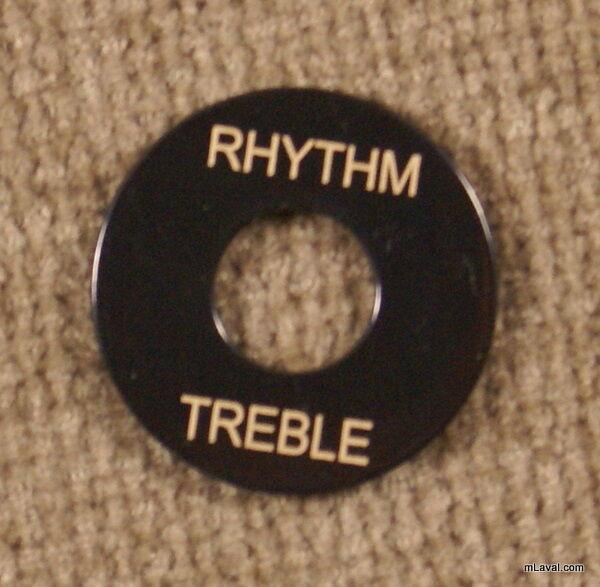 Toggle Switch washer Rhythm / Treble Ring Black/Gold -NEW