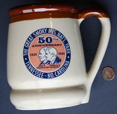 1984 Franklin D.Roosevelt-John D.Rockefeller 50th Anniv.Smoky Mountains Stein!
