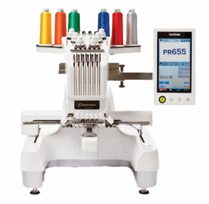 6 needle Brother PR655 home embroidery machine