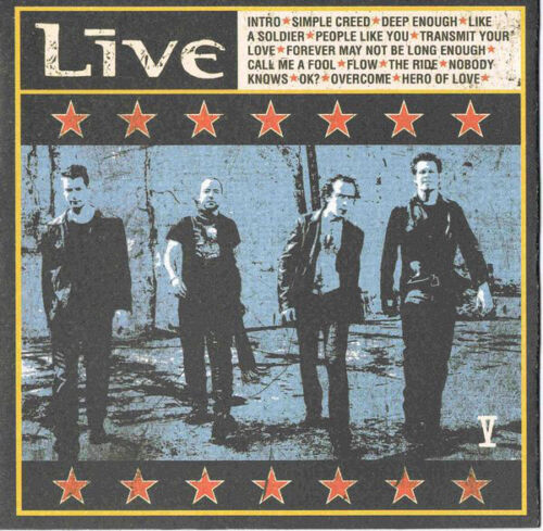 """Live """"v""""  New Mint Sealed, Cd With Booklet  2001 Usa"""