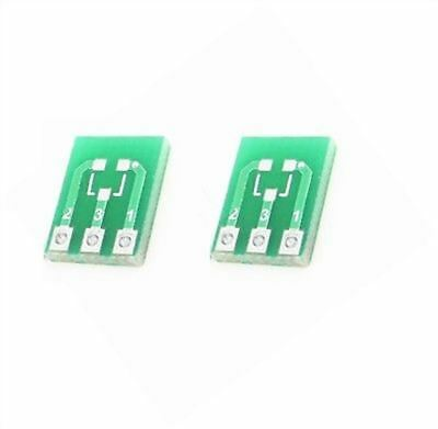 20pcs Sot23 -3 To Sip3 Adapter Pcb Board Converter Double-side Smd Dip New Ic Zs