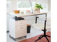 Dwell Reversible Desk And Drawers White | RRP £499