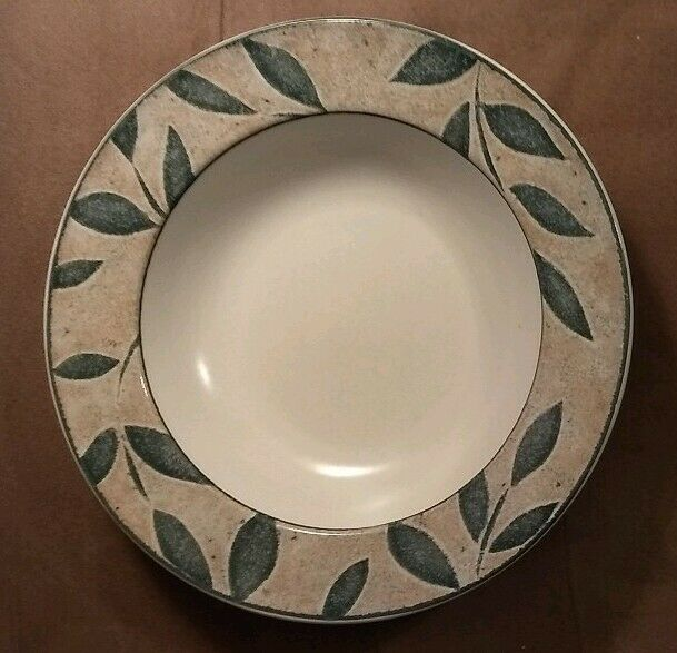 SET OF 10 MIKASA STONEWARE INTAGLIO NATURES SONG PATTERN RIMMED SOUP PASTA BOWLS