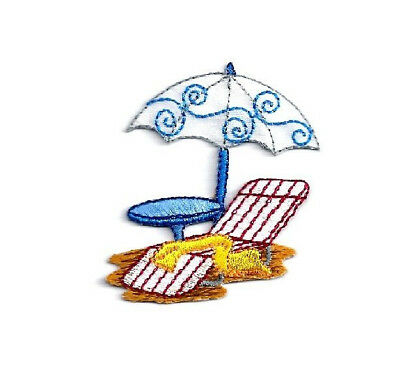 Kids Embroidered Chair (Beach - Summer - Umbrella, Towel & Chair - Vacation - Embroidered Iron On)