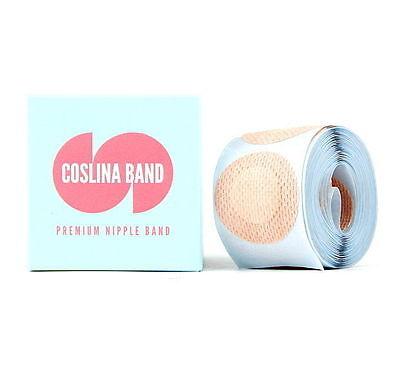 100Pcs COSLINA  Premium Unisex Round Nipple Cover Band 3.5cm Natural Color noo