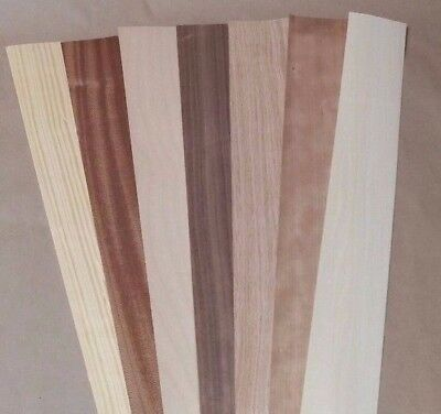 Variety Pack Wood Veneer Rawunbacked - 2.5 X 40 X 0.042