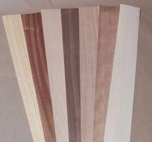 """Variety Pack Wood Veneer, Raw/Unbacked - 2.5"""" x 40"""" x 0.042"""""""