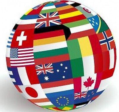 BANDIERA CON OCCHIELLI CM 90 X 150 VARIE NAZIONI Europei Mondiali Bandiere Stati