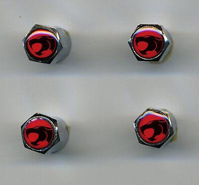 ThunderCats 4 Chrome Plated Brass Tire Valve Caps Car & Bike ThunderCats Chrome Plated Brass