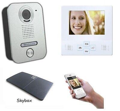 4 Zoll LCD Monitor Türsprechanlage Video Gegensprechanlage WLAN Schnittstelle