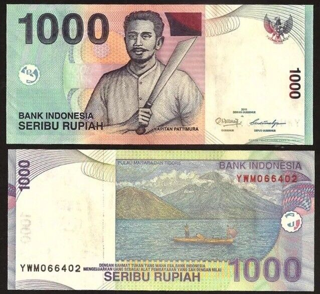 INDONESIA 1,000 (1000) Rupiah, 2013, P-141k, UNC World Currency