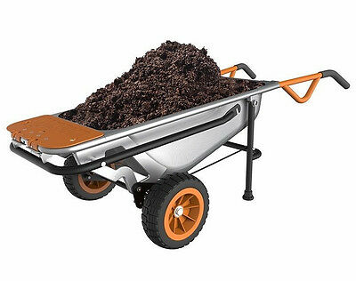 Wg050 Worx Aerocart  8 In 1 Multi Function Wheelbarrow Garden Yard Cart