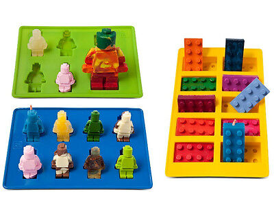 Silicone Cake Mold Fondant LEGO Mould Chocolate Cookie Ice Cubes Baking Tool Diy
