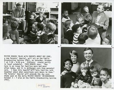 FRED ROGERS DAY CARE KIDS MISTER ROGERS NEIGHBORHOOD ORIGINAL 1997 PBS TV PHOTO
