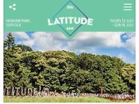 Latitude 2017 Festival ticket