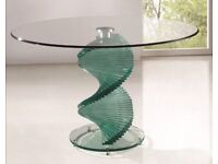 Stunning Glass dining room table