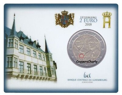 Luxemburg 2018 II 2€ UNC Groothertog Willem I Mint Mark (BRUG)