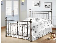 Luxury King metal bed