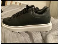 Black & White dressy trainers (size 9)