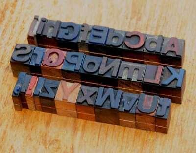 A-z Alphabet 0.71 Letterpress Wooden Printing Blocks Wood Type Vintage Printer