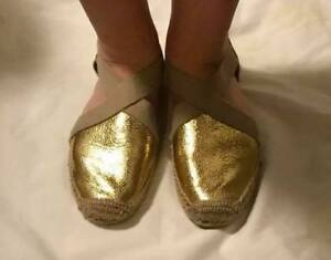 Tory Burch Gold Espadrilles