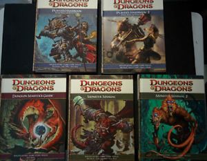 Dungeons & Dragons D&D 4e fourth Edition Core Books Lot