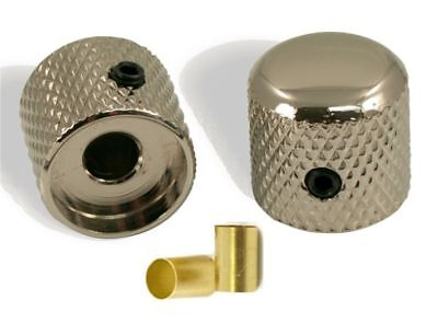 2x Boutons Metal Scaller Dome Knobs Brass 6mm Split Shaft Pots Style Telecaster