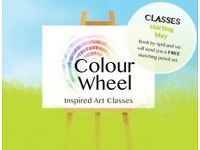 Art Classes at Camberley Cricket Club starting 9th May