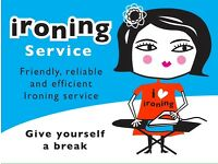 Ironing lady ...flexible , prices hard to beat, friendly , free pick up drop off