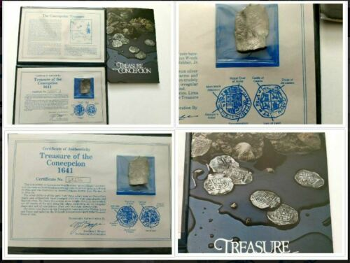 RARE 1641 Conception Shipwreck Treasure Silver Cob piece of 8 Coin w/COA 68235