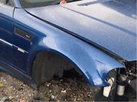 Bmw e46 m3 drivers side wing in topaz blue