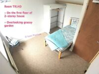 *** Good Sized L-Shaped Room Overlooking Grassy Garden • Mature House • 10 Min Walk to North Station