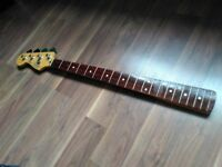 Fender Mexico Jazz Bass Guitar Neck Reverse / Left Handed Lefty