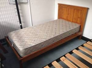Solid Wood, King Single Bed with Mattresses Maddington Gosnells Area Preview